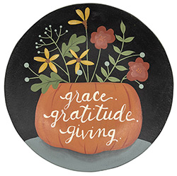 Grace, Gratitude and Giving Wood Plate
