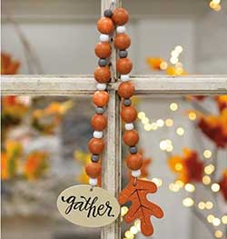 Gather Fall Beaded Garland