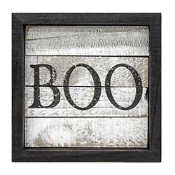 Boo Framed Sign