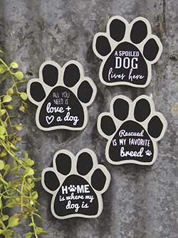 Dog Paw Magnets (Set of 4)