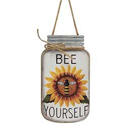 Bee Yourself Mason Jar Sign