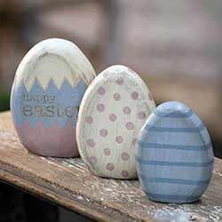 Easter Egg Shelf Sitters (Set of 3)
