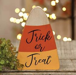 Trick or Treat Candy Corn Chunky Sitter