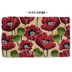 Allover Poppies Doormat - Extra Large Size