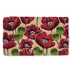 Allover Poppies Doormat