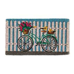 Bicycle on Picket Fence Doormat