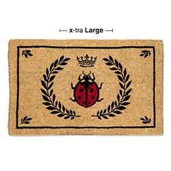 Ladybug in Crest Doormat - Extra Large Size