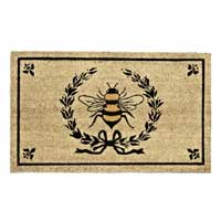Bee in Crest Doormat