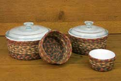 Honey, Vanilla, and Ginger Braided Jute Baskets (Set of 4)