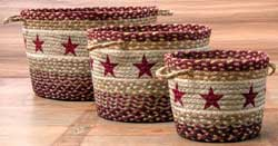 Burgundy Star Utility Basket