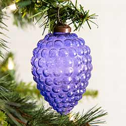 Purple Grapes Glass Ornaments (Box of 4)