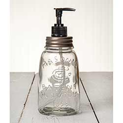 Midget Mason Jar Soap/Lotion Dispenser with Zinc Lid