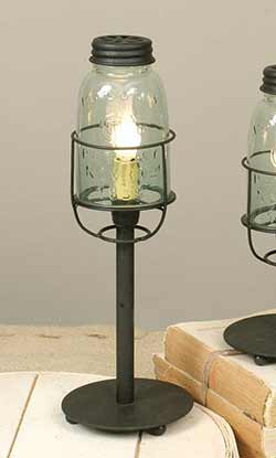 Mason Jar Desk Lamp - Medium