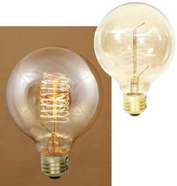 Balloon Edison Light Bulb with Spiral Filament