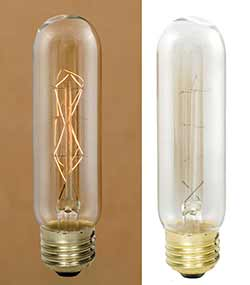 Stick Edison Light Bulb with Diamond Filament