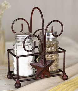 Rustic Star Salt and Pepper Set
