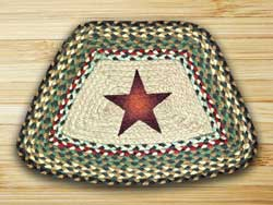 Gold Star Braided Jute Geo Placemats (Set of 2)