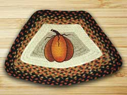 Pumpkin Braided Jute Geo Placemat