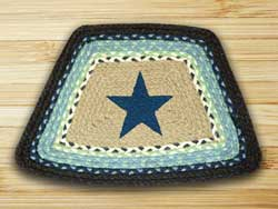 Blue Star Braided Jute Geo Placemat