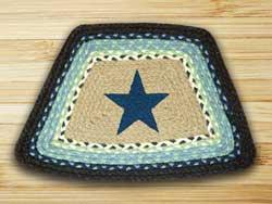Blue Star Braided Jute Geo Placemat