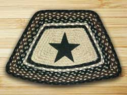 Black Star Braided Jute Geo Placemat
