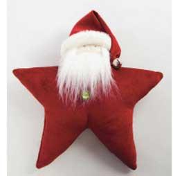 Red Chenille Santa Star