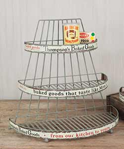 Vintage Bakery Display Rack