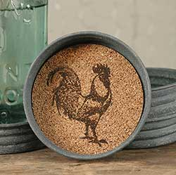 Farmhouse Rooster Mason Jar Coasters (Set of 4)