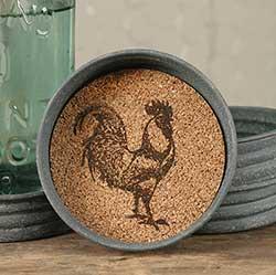 Farmhouse Rooster Mason Jar Coasters (Set of 4)