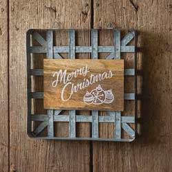 Tobacco Basket Christmas Sign