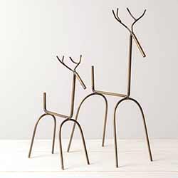 Modern Reindeer Figurines (Set of 2)