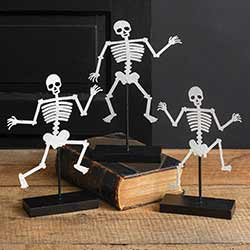 Dancing Skeletons on Bases (Set of 3)