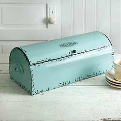 Teal Vintage Bread Box