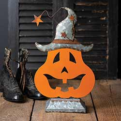 Galvanized Pumpkin Tabletop Decor
