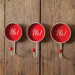 Ho Ho Ho Wall Hooks (Set of 3)