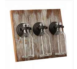 Rustic Hanging Triple Bottle Vases