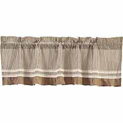 VHC Brands Kendra Stripe Black Valance