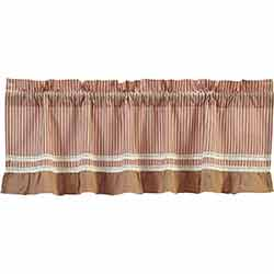 VHC Brands Kendra Stripe Red Valance