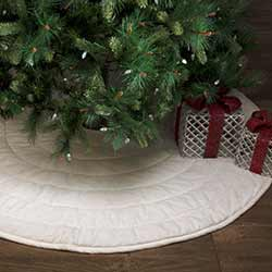 Ivory Velvet Christmas Tree Skirt