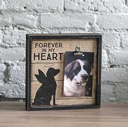Dog Memorial Sign with Photo Holder