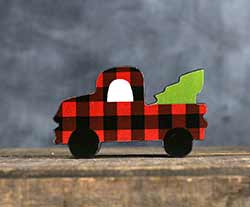 Buffalo Plaid Truck Shelf Sitter