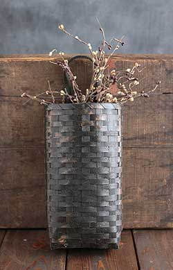 Grungy Wall Basket - Black