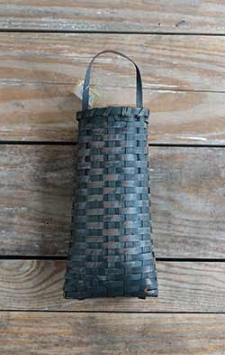 Grungy Oval Basket - Black