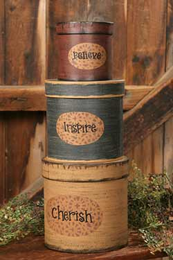 Believe, Inspire, Cherish Stacking Boxes (Set of 3)