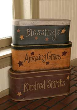 Amazing Grace Stacking Boxes (Set of 3)