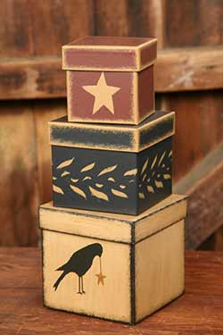 Primitive Crow Stacking Boxes (set of 3)