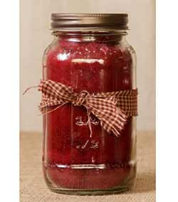 Cranberry Mason Jar Candle - 16 oz