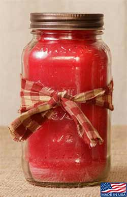 Macintosh Apple Mason Jar Candle - 16 oz
