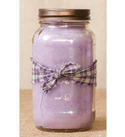 Lilac Mason Jar Candle - 25 oz