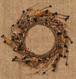 Primitive Rusty Star and Black Berry Wreath